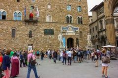 Piazza della Signoria with Palazzo Vecchio in Florence, Tuscany, Italy Stock Photos