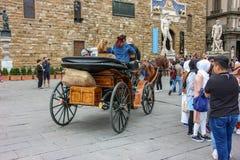 Piazza della Signoria with Palazzo Vecchio in Florence, Tuscany, Italy Stock Images