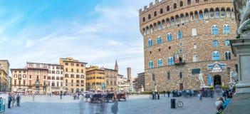 Piazza della Signoria with Palazzo Vecchio in Florence, Tuscany, Italy Stock Photography