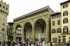 Piazza della Signoria and Palazzo Vecchio stock photo
