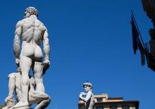 Piazza della Signoria statues Stock Photos