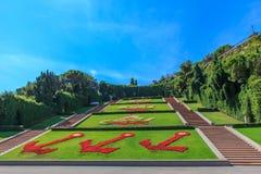 Piazza della Vittoria genua, Włochy (zwycięstwo kwadrat) Obrazy Royalty Free