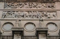 Piazza Della Vittoria, monumento di guerra a Genova, Italia fotografia stock libera da diritti