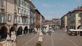Piazza della Vittoria, Pavia, PV, Italy.  stock footage