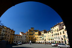 Piazza dellanfiteatro. Lucca, Tuscany, Italy. Royalty Free Stock Photos