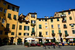 Piazza dellanfiteatro. Lucca, Tuscany, Italy. Royalty Free Stock Photo