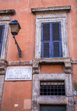 Piazza delle Cinque Scole sign Royalty Free Stock Photography