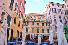 Piazza delle erbe, genoa Royalty Free Stock Photography