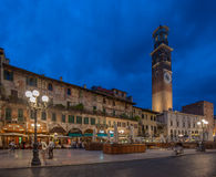 Piazza delle Erbe and Palazzo Maffei, Verona, Italy Royalty Free Stock Photo