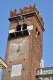 Piazza delle Erbe, tower of Verona Royalty Free Stock Images
