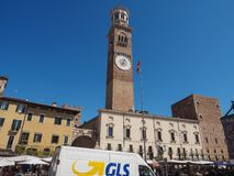 Piazza delle Erbe in Verona royalty free stock photography