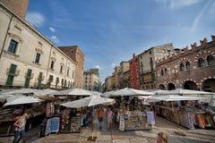 Piazza delle Erbe, Verona, Italy, Europe Royalty Free Stock Photo