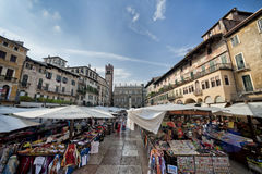 Piazza delle Erbe, Verona, Italy, Europe Royalty Free Stock Photography