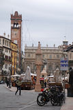 Piazza delle Erbe in Verona, Italy. Stock Photo