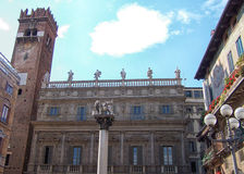 Piazza delle Erbe in Verona, Italy Stock Photo