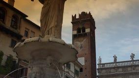 Piazza delle Erbe in Verona, ULTRA HD 4k, real time stock video
