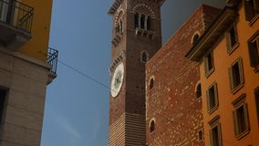 Piazza delle Erbe in Verona, ULTRA HD 4k, real time stock video footage