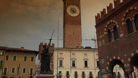 Piazza delle Erbe in Verona, ULTRA HD 4k, real time stock footage