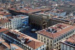 Piazza delle republica,Florence,Italy. View of piazza delle republica from top of duomo,Florence,Italy Royalty Free Stock Images