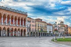 Piazza dellla valle, Padua, Italië Stock Foto