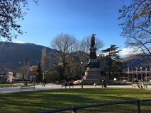 Piazza Dente, Trento, Italien Royaltyfria Foton