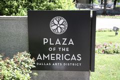 Piazza des Amerika-Zeichens Lizenzfreie Stockfotos