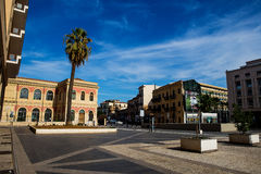 Piazza des Palastes von Gerechtigkeit in Palermo, Italien Stockbilder