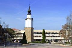 Piazza di Botevgrad, Bulgaria Immagini Stock