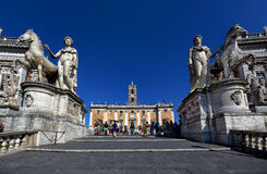 Piazza di Campidoglio Stockfotos