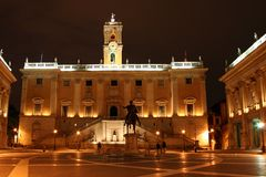 Piazza di Campidoglio. On the top of the smallest of Rome´s seven hills Stock Images