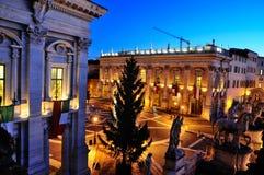 Piazza di Campidoglio by Night Royalty Free Stock Photo