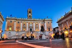 Piazza di Campidoglio, Roma Fotografia Stock