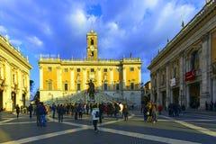 Piazza di Campidoglio, Rome Stock Photo