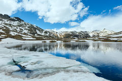 Lago della montagna delle alpi Fotografia Stock Libera da Diritti