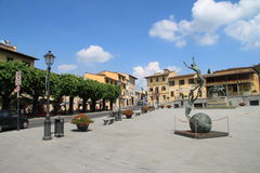 Piazza di estate di Firenze, Italia Immagini Stock Libere da Diritti