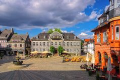 Piazza di Goslar Fotografie Stock