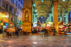 Piazza di Mercato Nuovo in Florence Royalty Free Stock Image