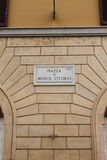 Piazza di Monte Citorio街道板材,罗马,意大利 免版税库存图片