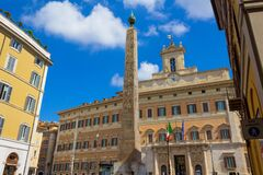 Free Piazza Di Monte Citorio With The Obelisk Rome Italy Royalty Free Stock Photos - 179323418