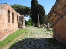 Piazza di Ostia Antica Fotografia Stock