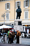 Piazza di parma with the statue giuseppe garibaldi Stock Photos