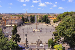 Piazza di Popolo, Roma, Italia Foto de archivo libre de regalías