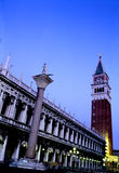 Piazza di San Marco- Venice, Italy. Bell-tower and exterior of the Palazzo Ducale on the Piazza di San Marco- Venice, Italy Royalty Free Stock Photos