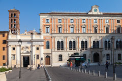 Piazza di San Silvestro, Straßenansicht Stockbild
