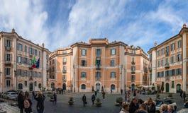 Piazza Di Sant 'Ignazio di Loyola, in Rome stock foto's