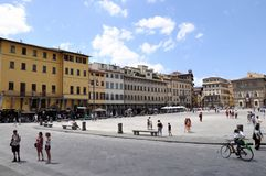 Piazza di Santa Croce in Florence Stock Photos