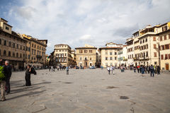 Piazza di Santa Croce in Florence royalty free stock photo