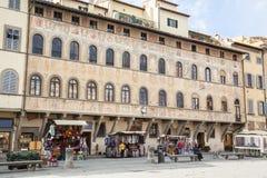 Piazza di Santa Croce in Florence stock images
