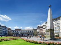 Piazza Di Santa Maria nowele przy historycznym centrum Florencja Fotografia Stock