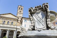 Piazza di Santa Maria in Trastevere in Rome, Italy Stock Images